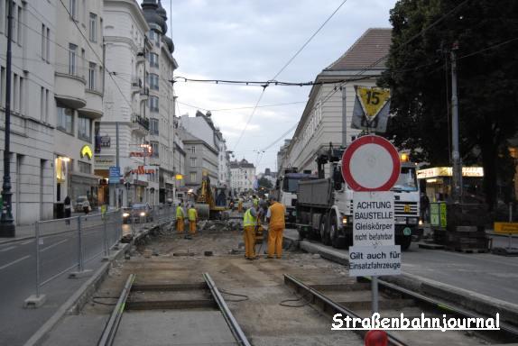 Gleisbaustelle Alser Straße