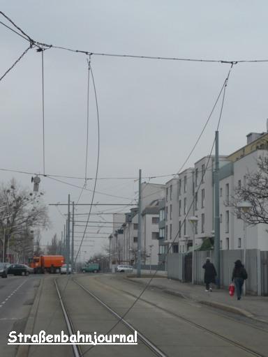 Oberleitungsgebrechen Simmeringer Hauptstraße/Pantucekgasse