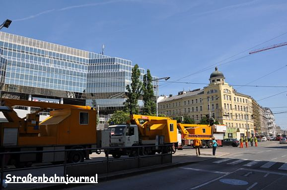 Oberleitungsgebrechen Julius-Tandler-Platz