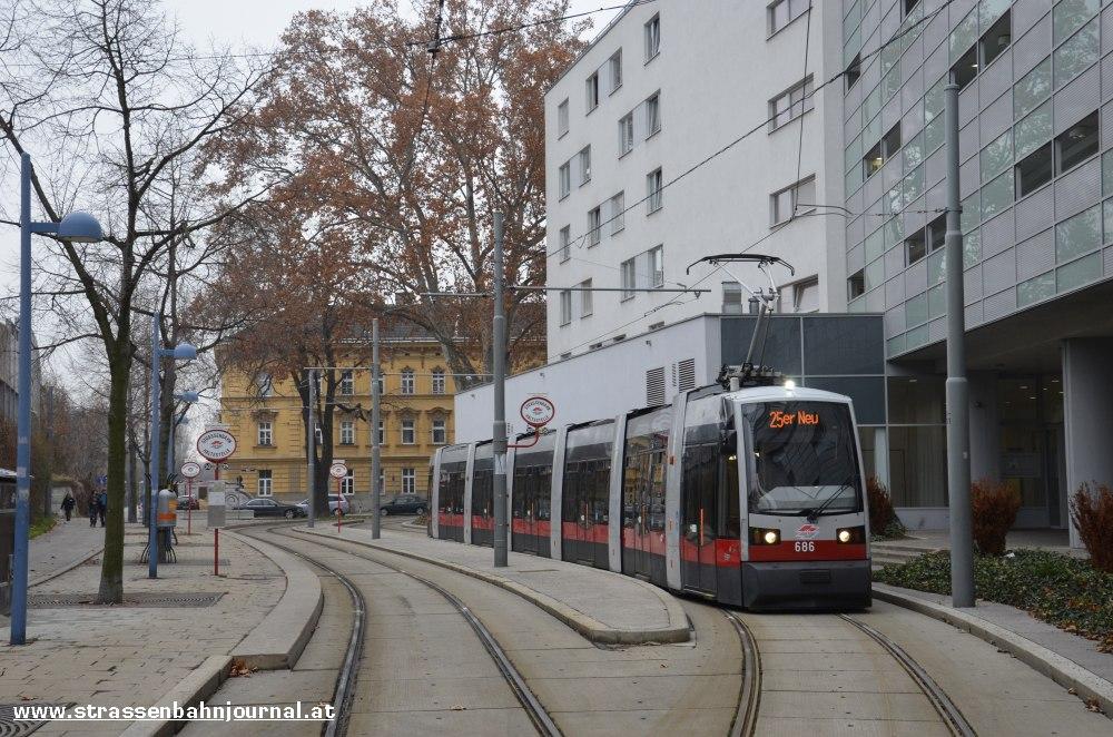 B 686 Linke Nordbahngasse (Ferstlschleife)