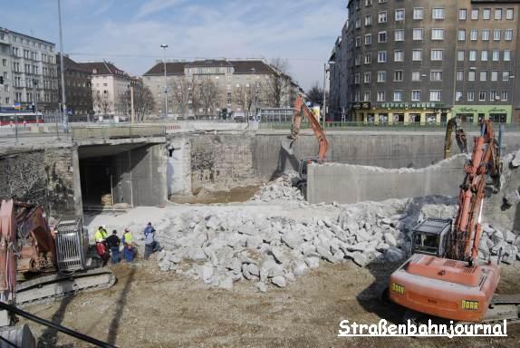 Baustelle Südtiroler Platz