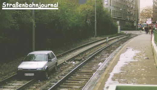 Auto in der UStrab