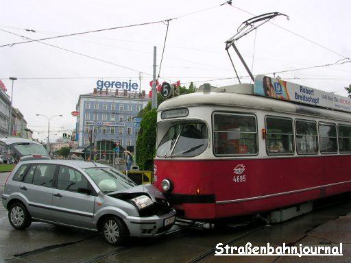 Unfall Neubaugürtel/Mariahilfer Straße
