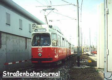 Linie 64 eingleisig unterwegs