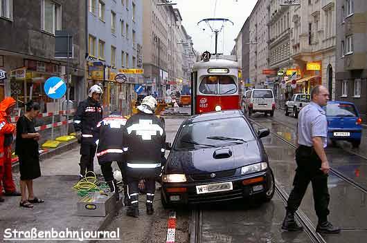 Fahrtbehinderung Linie 21