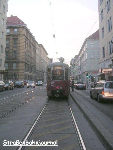 Schienenbeschädigung bei Schwarzspanierstraße