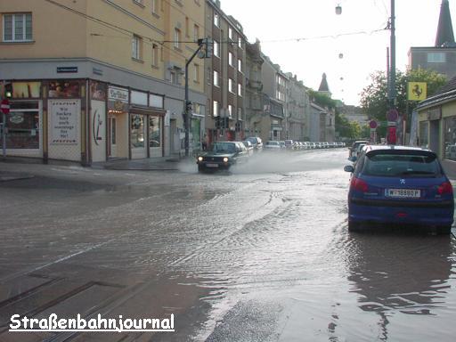 Wasserrohrbruch Waidhausenstraße