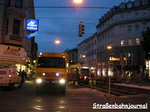 Entgleisung 4816+1322 Wallensteinstraße/Klosterneuburger Straße
