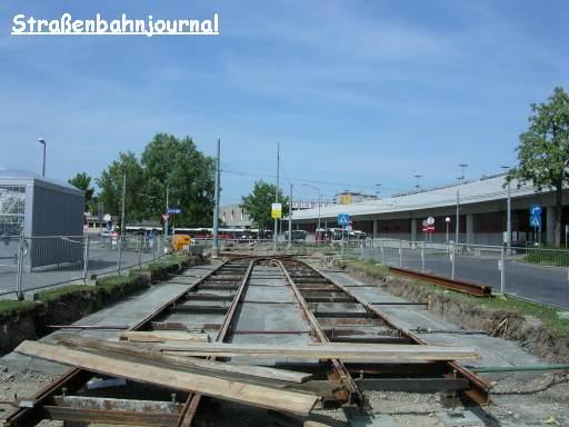 Gleisbauarbeiten in Kagran