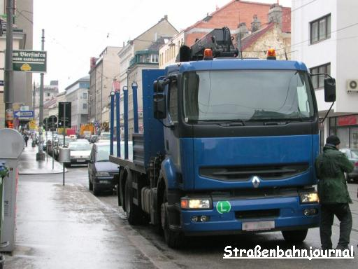 Lkw in der Ottakringer Straße