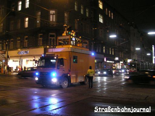 Oberleitungsgebrechen Alser Straße/Lange Gasse