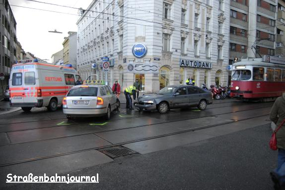 Unfall Ottakringer Straße/Wurlitzergasse